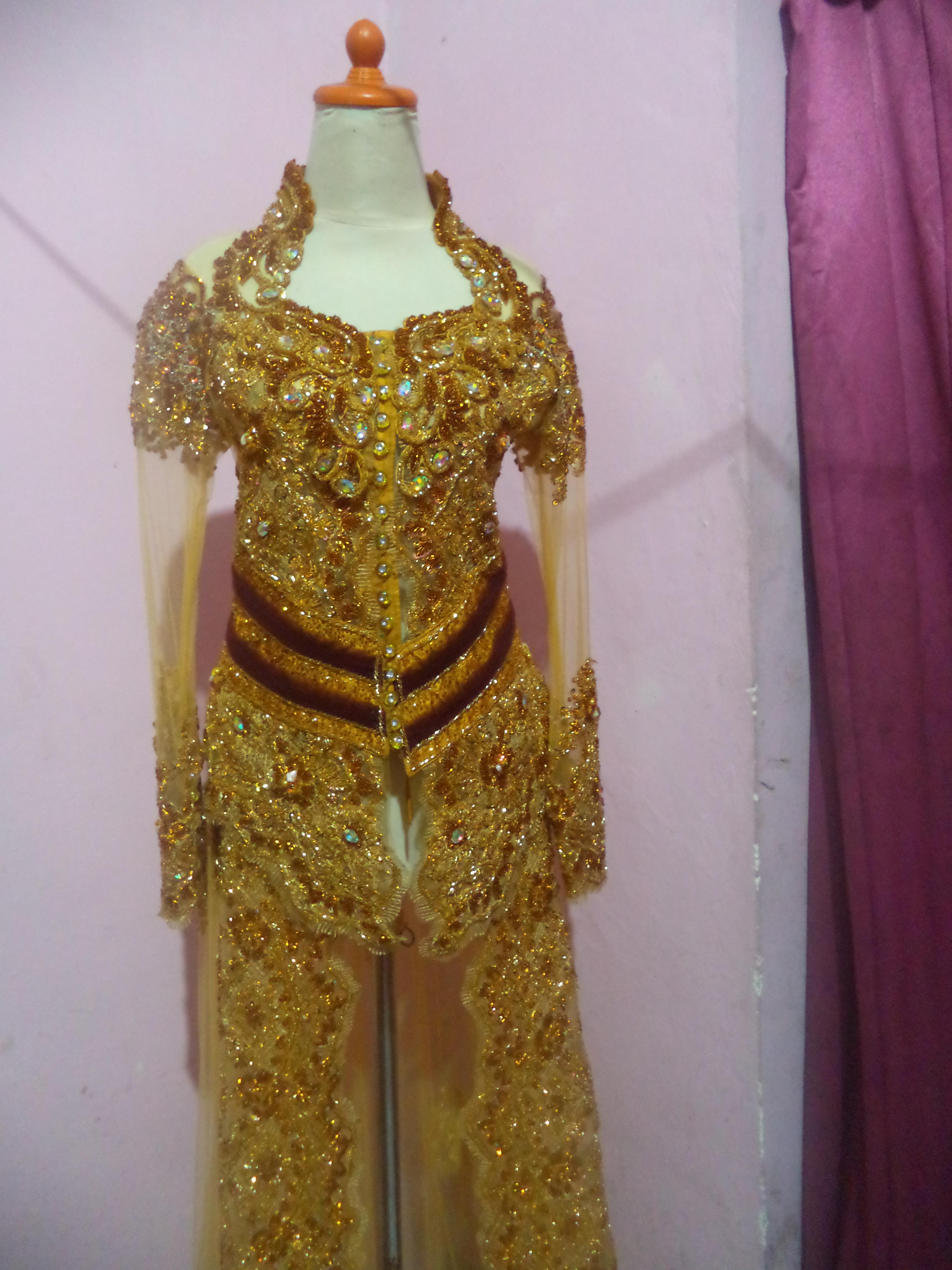 Kebaya Pengantin Coklat Gold uKebaya